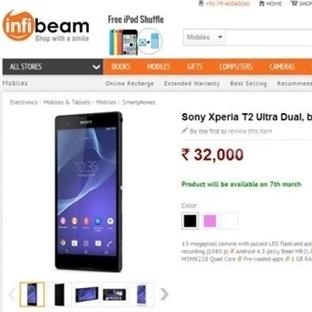 Xperia T2 Ultra Hindistan'da Satısa Cıktı !