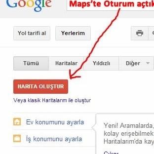Yer Listelerinizi Google Haritalara Yükleyin
