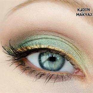 Yeşil ve Altın Tonu Makyaj