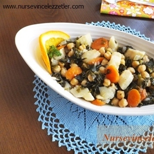 Zeytinyağlı Portakal Sulu Kereviz Yemeği