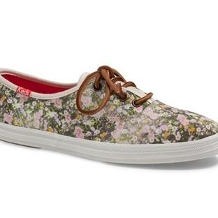 2014 Bahar Floral Desenli Sneaker Ayakkabı