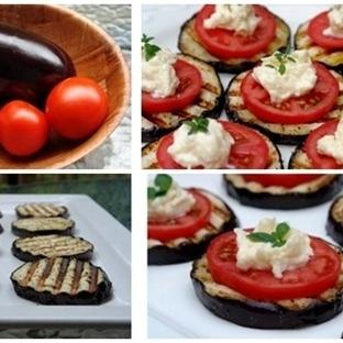 Aperatif, Meze Tarifi Peynirli Izgara Patlıcan