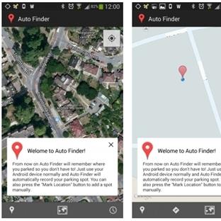 Auto Finder:Aracınızı park ettiğiniz yeri hatırlat
