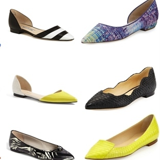 Bahar 2014 Trendi: Sivri Burun Düz Ayakkabılar