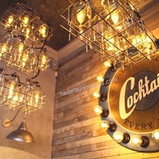 Belenko Design'dan Kiev'de Milk Bar Aydınlatma