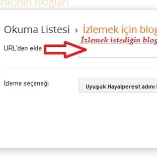 Blogger Ana Kumandadan Blog İzleme.