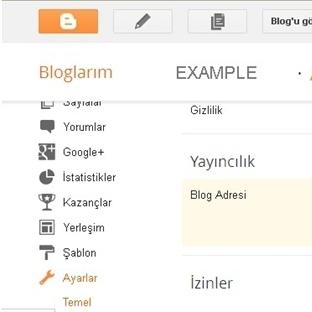 Blogger özel alan adı ekleme