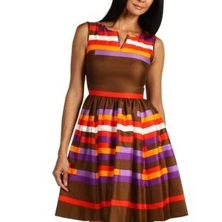 Çizgili elbise modelleri 2014