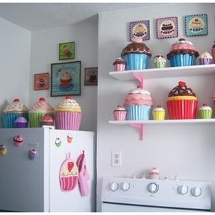 Cupcake Tasarımlı Mutfak Dekoru