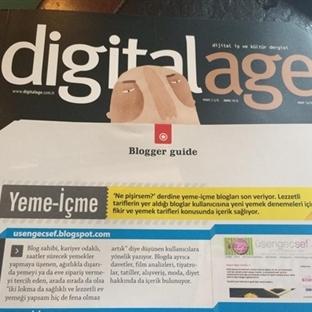 Digital Age Dergisi 1 Numaralı Yeme-İçme Blogu