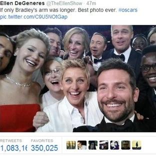Ellen DeGeneres'in Oscar Selfie'si Rekora Koşuyor!