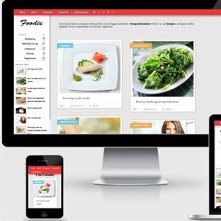 Foodie Responsive Blogger Teması