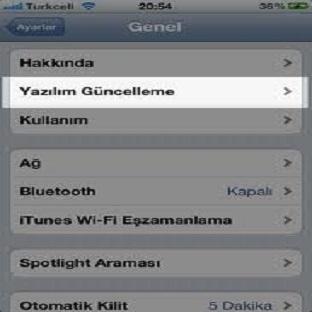 iPad Yazılım Güncelleme Nasıl Yapılır?