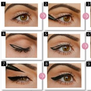 Kuyruklu Eyeliner Çekme Teknikleri