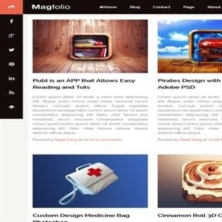 Magfolio Blogger Teması
