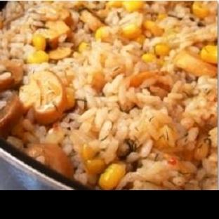 Mantarlı Mısırlı Pirinç Pilavı