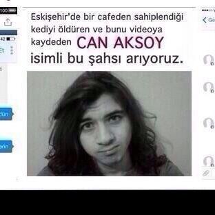 "Masum Kediyi Vahşice Öldüren ""Can Aksoy"""