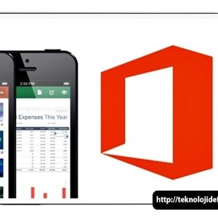 MS Office Mobil iPhone ve Android için Ücretsiz