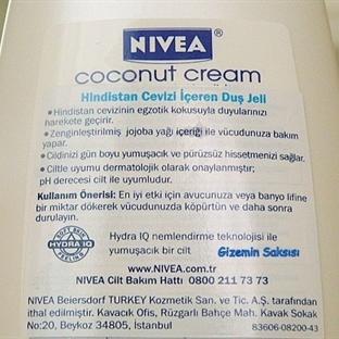 Nivea Coconut Cream - Hindistan cevizli Duş Jeli