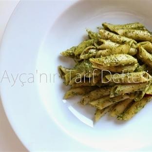 Pesto Soslu Makarna...Fesleğenli Penne