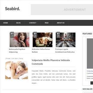 Seabird Responsive Blogger Teması