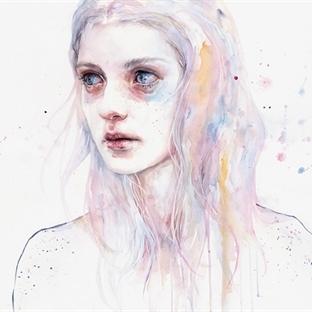 Sulu Boya Portreler – Agnes Cecile