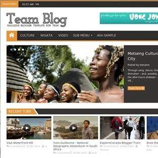 Team Blog Magazin Blogger Teması