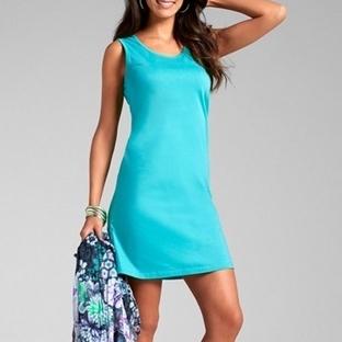 Turkuaz Elbise Modelleri 2014