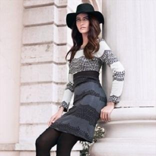 Uzun Kollu Elbise Modelleri 2014