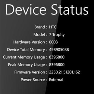 Windows Phone Device Status Bilgilerini Almak