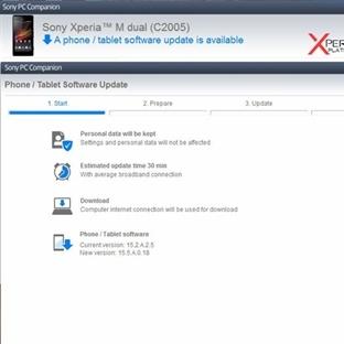 Xperia M Dual Android 4.3 Güncellemesini Alıyor !