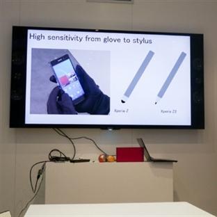 Xperia Z2 Kursun Kalemle Bile Kullanılabiliyor !