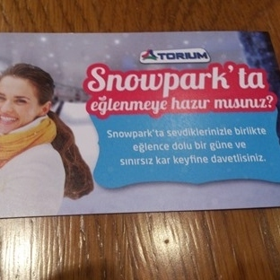 1 aileye 3 kişilik SNOWPARK Giriş bilet hediye..