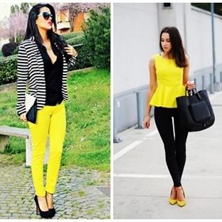 2014 Türkiye Yaz Modası Sarı Renk Kombinler