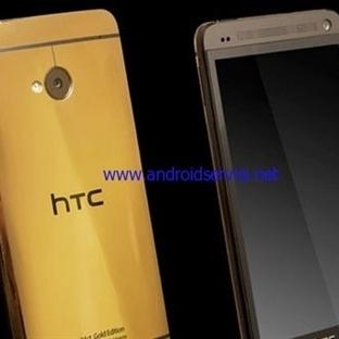 24 Ayar Altın Kaplama HTC One M8 Büyülüyor
