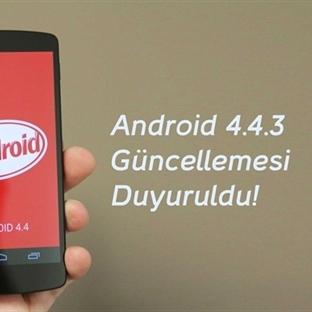Android 4.4.3 güncellemesi