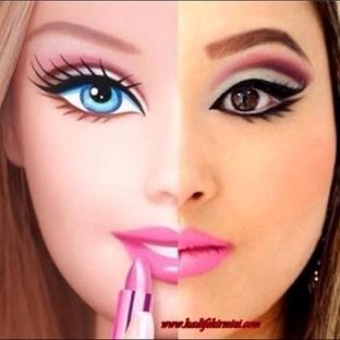 Barbie Makyajı Resimli Anlatım