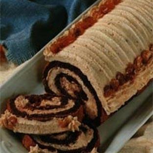 Çikolatalı Kestaneli Rulo Pasta