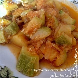 Diyet Yemeği : Patatesli Kabak Yemeği