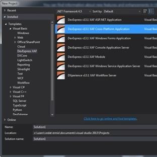eXpressApp Framework İle İlk Uygulamamıza Başlamak