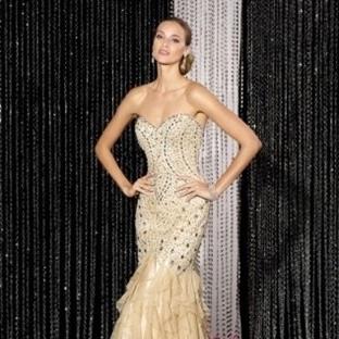 Fırfırlı Abiye Elbise Modelleri