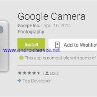 Google Camera Uygulaması Yayınlandı