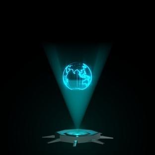 Hologram üzerinde çalışıyor!