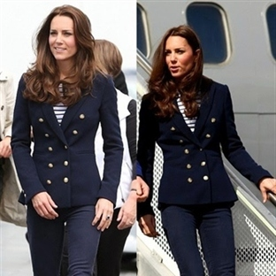 Kate Middleton: Zara Double Breasted Jacket