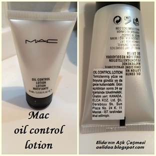 MAC OİL CONTROL LOTİON !