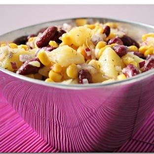 Patatesli Tavuk Salatası Tarifi