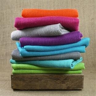 Renkli çuval bezi / jüt kumaşı
