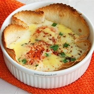 Tortilla(Lavaş) Çanağında Yumurta