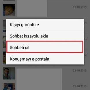 Whatsapp Sohbet Geçmişini silme
