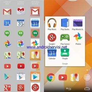 Yeni Android Simgeleri İlgi Çekici
